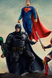 720x1280 Justice League Heroes 4k 2020