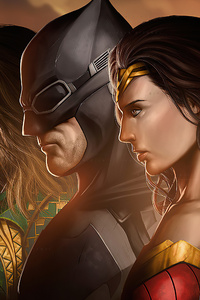480x854 Justice League Heroes Together 4k