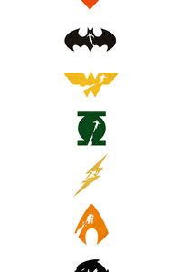720x1280 Justice League Logo Art