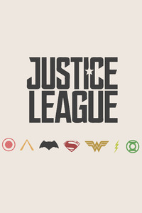 Justice League Minimalism Logos 4k