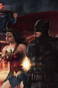 1080x2280 Justice League New Art