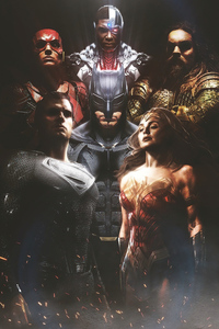 Justice League Snyder Cut Poster 4k