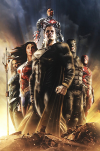 800x1280 Justice League Snyder Variant Poster 4k