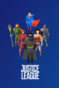 Justice League Superheroes Illustration 4k