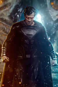 800x1280 Justice League Superman Black Suit 4k