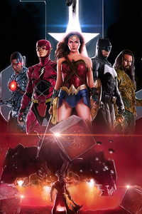 720x1280 Justice League Team Art