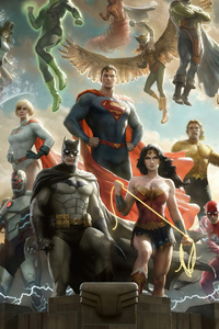 240x400 Justice League Team Artwork