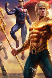 720x1280 Justice League Throne Of Atlantis 4k