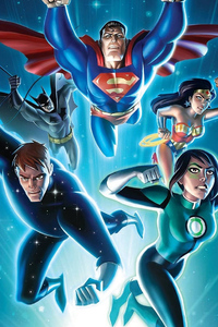 1080x2280 Justice League Vs The Fatal Five