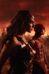 720x1280 Justice League Wonder Woman 2017 4k