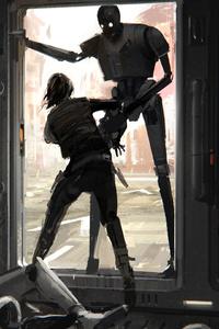 Jyn Erso K 2SO Rogue One A Star Wars Story Artwork