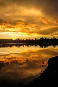 640x1136 Kaibab Lake Sunset