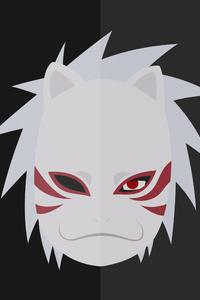 640x1136 Kakashi Hatake Naruto Minimalist