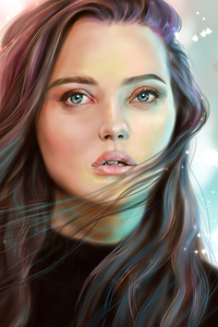 Katherine Langford Digital Portrait