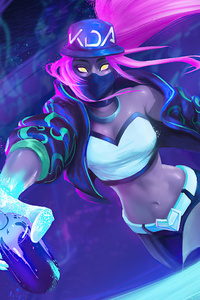 480x800 Kda Akali League Of Legends 4k Artwork