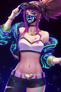 750x1334 Kda Kali Mask League Of Legends