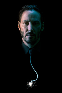 1242x2688 Keanu Reeves 4k John Wick Chapter 2