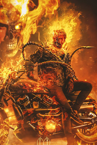 640x1136 Keanu Reeves As Ghost Rider 4k
