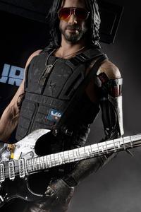 640x960 Keanu Reeves As Johnny Silverhand Cyberpunk 2077 5k