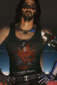 640x1136 Keanu Reeves As Johnny Silverhand Cyberpunk 2077