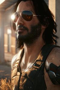 640x960 Keanu Reeves Cyberpunk 2077 2021