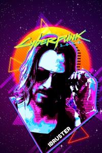 Keanu Reeves Cyberpunk 2077 Retro 4k