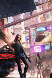 360x640 Keanu Reeves In Cyberpunk 2077 4k