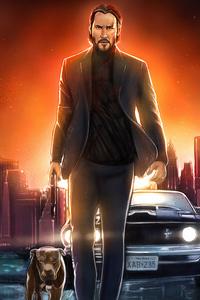 480x800 Keanu Reeves John Wick