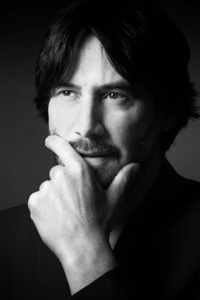 1080x2280 Keanu Reeves Monochrome 2020