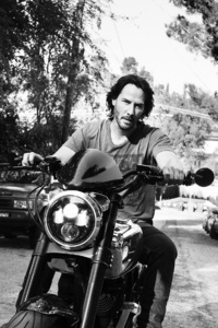 Keanu Reeves On Bike