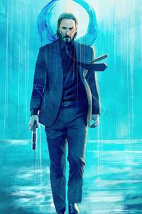 1242x2688 Keanu Reeves Walking With Gun