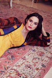 540x960 Keira Knightley Yellow Dress Lying Down 4k