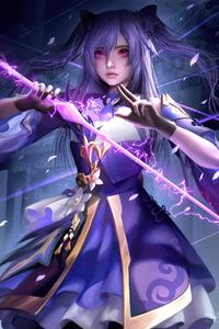 Keqing Genshin Impact 4k