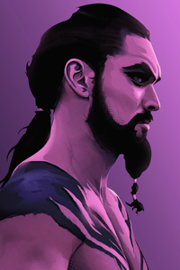 480x800 Khal Drago 4k Artwork