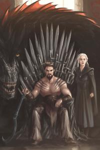 1242x2688 Khal Drago Daenerys Targayen