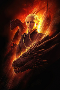 320x480 Khaleesi Game Of Thrones 5k