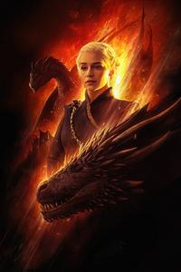 480x854 Khaleesi Game Of Thrones 5k