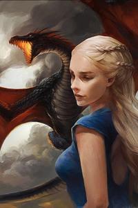 Khaleesi Game of Thrones With Dragon Artwork