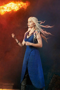 Khaleesi With Dragons