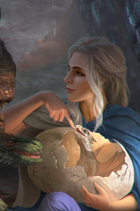 Khalessi With His Dragons