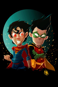 Kid Superman And Robin