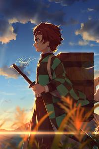 320x568 Kimetsu No Yaiba Anime 4k