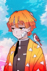 1280x2120 Kimetsu No Yaiba Zenitsu Agatsuma Anime Boy 4k
