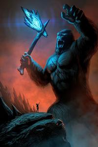 750x1334 King Kong Fanart 4k
