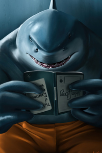 2160x3840 King Shark The Suicide Squad 2021