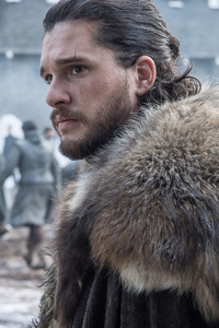 320x480 Kit Harington As Jon Snow Game Of Thrones Season 8