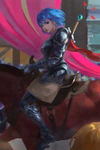 Knight Girl On Horse