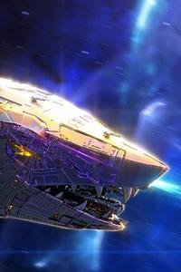 Knight Hunter Scifi Shark Spaceship