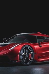 640x1136 Koenigsegg Jesko Cherry Red Edition 10 Front View