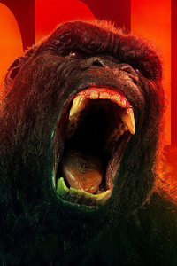 1242x2688 Kong Skull Island All Hail The King 4k